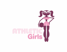 Athlethic Girl Premade Logo