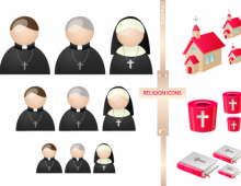 Religion People Vector Icons