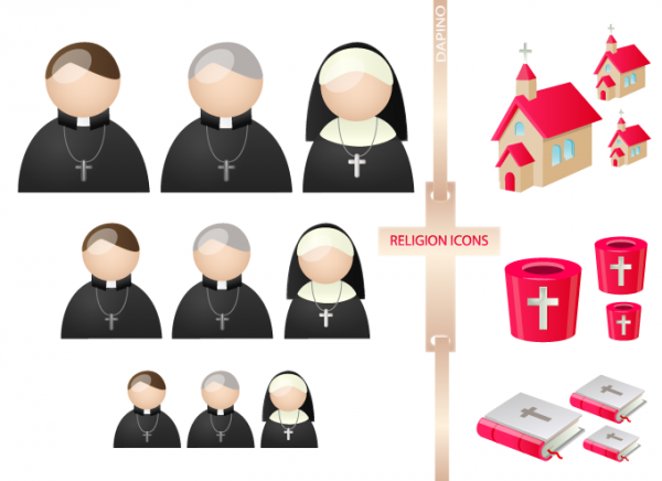 Religion People Vista Icons