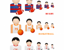 Sport People Vector Icons