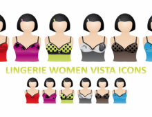 Lingerie Women Vista Icons