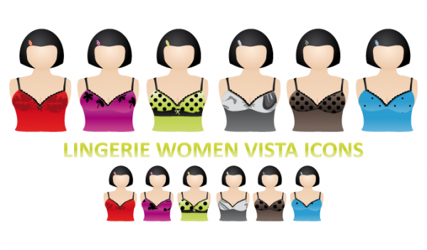 Lingerie Women Vector Icons