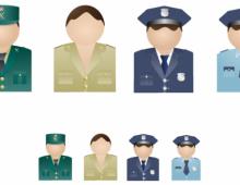 Policemen Vista Icons
