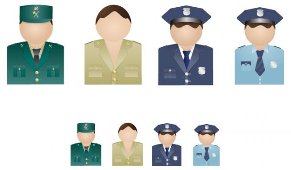 Policemen Vector Icons