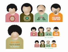 Afro Men Vector Icons