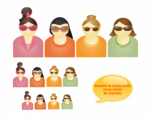 Sunglasses Women Vector Icons