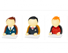 Office Men Vector Icons