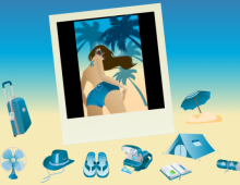 Summer Blue Icon Set