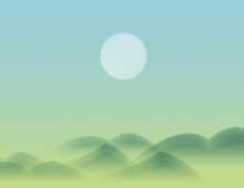 Asian Morning Landscape Banner