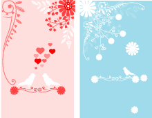 Birds & Flowers Banners
