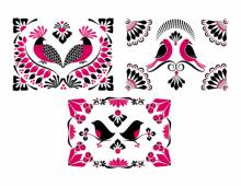Floral Birds Pink