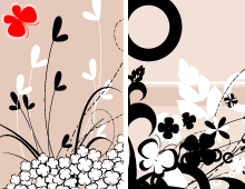 Floral with Butterflies Banners