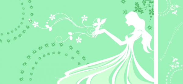 Green Flower Girl Banners