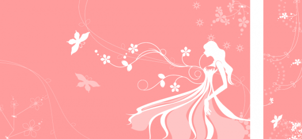 Pink Flower Girl Banners