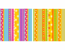 Vector Colored Flowers Patterns