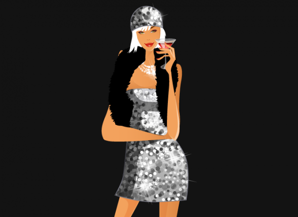 Sparkling Silver Girl