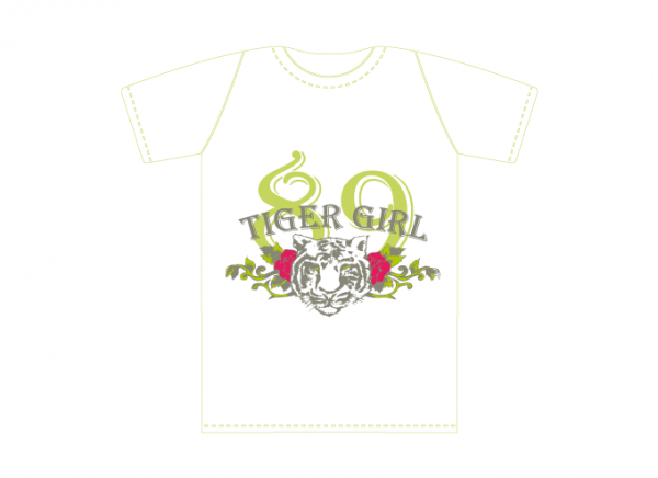 Tiger Girl T-shirt Design