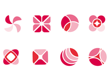 Shapes in Pink & Red