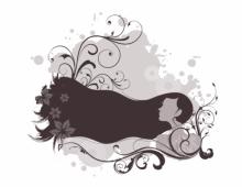 Girl with Swirly Hair