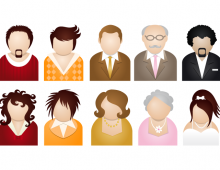 10 People Vector Icons