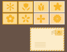 Yellow Flower Stamps
