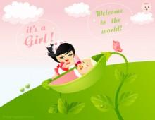Girl Baby Born