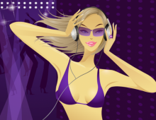 Girl Enjoy Music Wallpaper