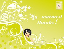 My Warmest Thanks!