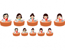 Office Women Vector Icons