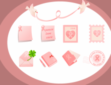 Pink Ribbon Vector Graphics