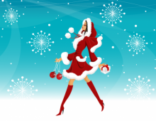 Christmas Woman Wallpaper