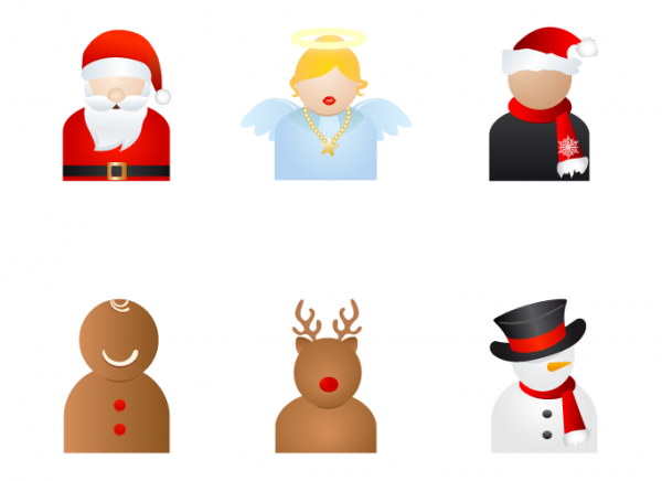 Christmas People Vector Icons