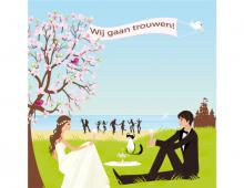 Wedding Card Fam. Quispel