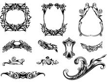 Etched Frames & Swirls