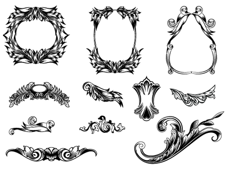 Etched Frames & Swirls