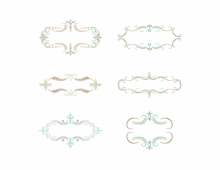 Colored decorative vintage banners
