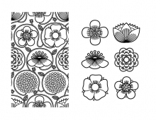 Japanese pattern in black and white