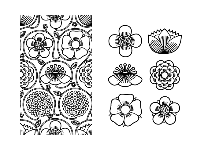 Japanese pattern in black & white