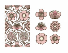 Japanese pattern in pink