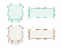 Vintage scroll frames in color