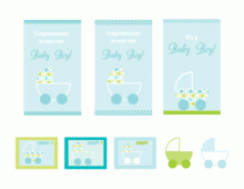 It's A Baby Boy Card