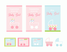 It's A Baby Girl Card