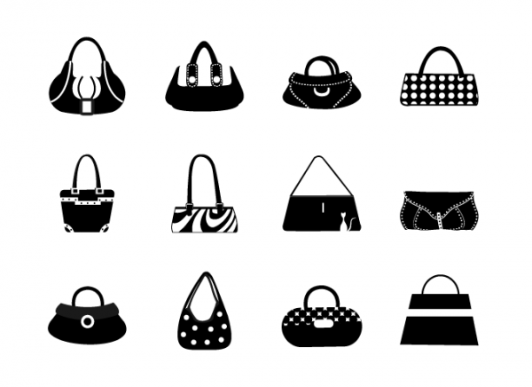 Women bags in black and white