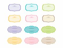 Retro colored frames