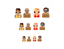Beach People Icons