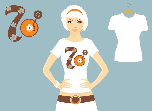 T-shirt design 70's