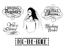 Bridal calligraphic elements