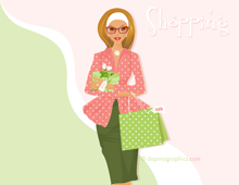 Shopping Fashion Girl