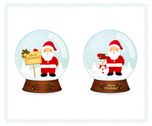 Santa Snow Balls