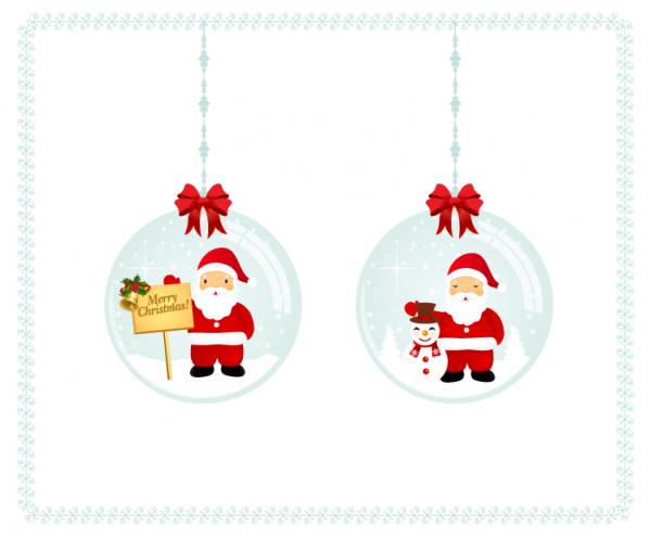 Santa Christmas Balls